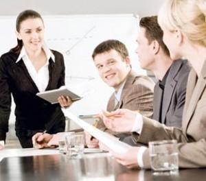 möte på konferens