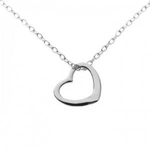 silver hjärta med egen text